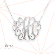 Monogram Necklace in Silver 0.925